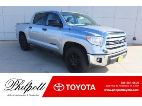 Silver Sky Metallic Toyota Tundra SR5 CrewMax.  Click to enlarge.