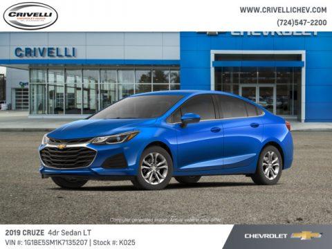Kinetic Blue Metallic Chevrolet Cruze LT.  Click to enlarge.
