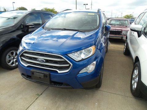 Lightning Blue Ford EcoSport SE.  Click to enlarge.
