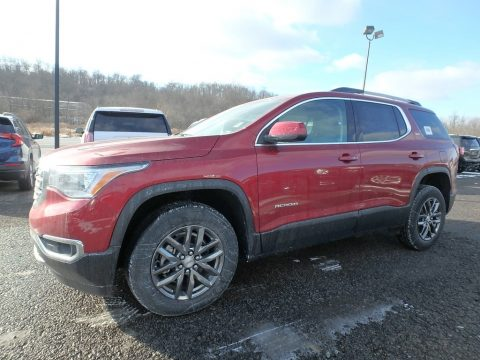 Red Quartz Tintcoat GMC Acadia SLT AWD.  Click to enlarge.