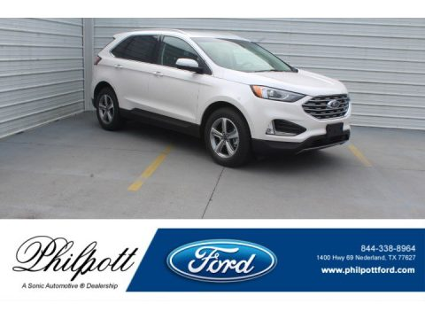 White Platinum Ford Edge SEL AWD.  Click to enlarge.