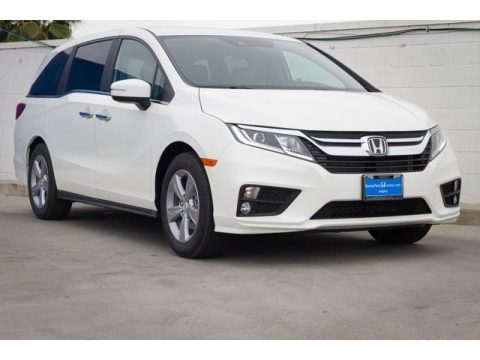 White Diamond Pearl Honda Odyssey EX.  Click to enlarge.