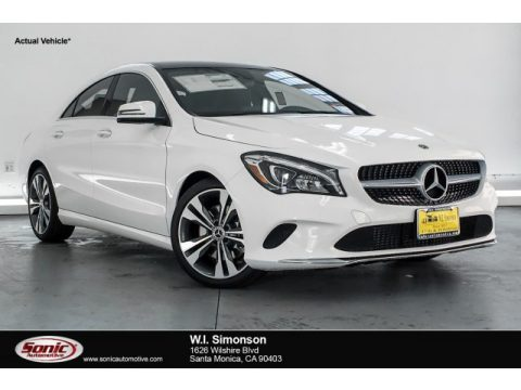 Polar White Mercedes-Benz CLA 250 Coupe.  Click to enlarge.