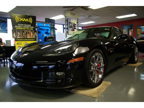 Black 2009 Chevrolet Corvette Z06 with Ebony interior Black Chevrolet