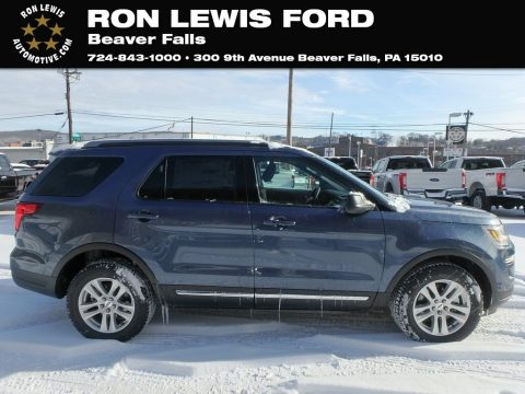 Blue Metallic Ford Explorer XLT 4WD.  Click to enlarge.