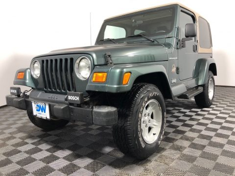 Shale Green Metallic Jeep Wrangler Sahara 4x4.  Click to enlarge.