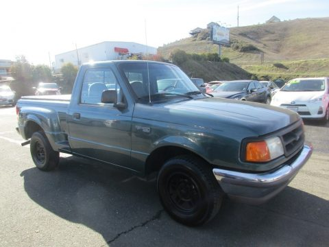 Cayman Green Metallic Ford Ranger XLT Regular Cab.  Click to enlarge.