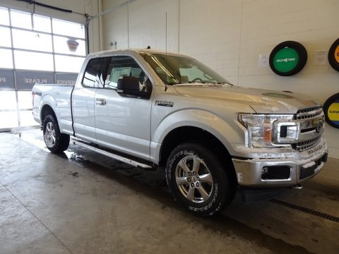 Ingot Silver Ford F150 XLT SuperCab 4x4.  Click to enlarge.