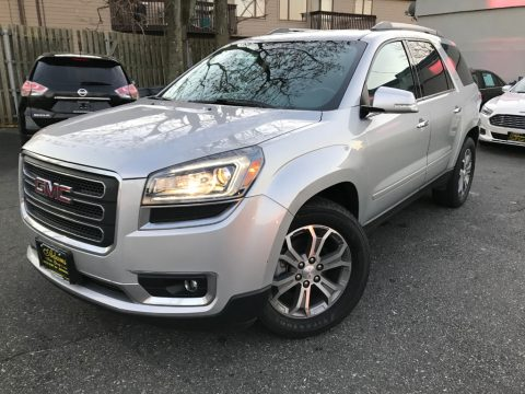 Champagne Silver Metallic GMC Acadia SLT AWD.  Click to enlarge.
