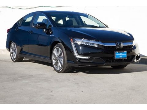 Crystal Black Pearl Honda Clarity Plug In Hybrid.  Click to enlarge.