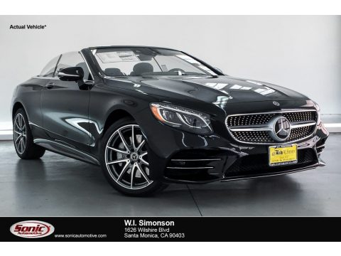 Black Mercedes-Benz S S 560 Cabriolet.  Click to enlarge.