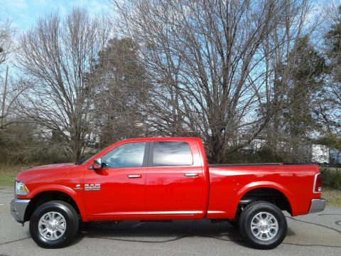 Flame Red Ram 2500 Laramie Crew Cab 4x4.  Click to enlarge.