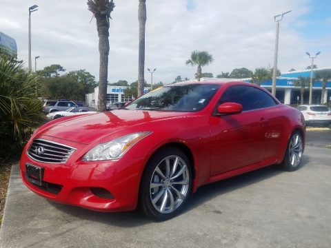 Vibrant Red Infiniti G 37 S Sport Convertible.  Click to enlarge.