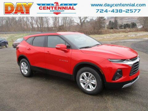 Red Hot Chevrolet Blazer 3.6L Cloth AWD.  Click to enlarge.