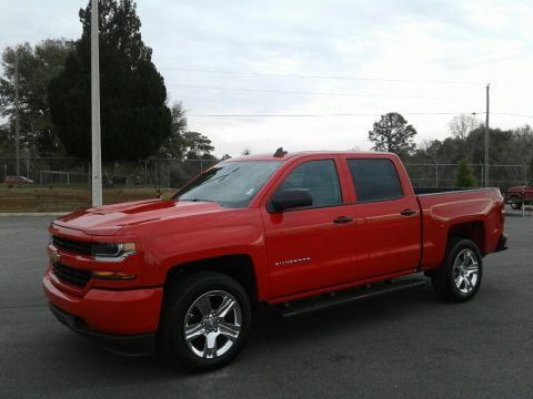 Red Hot Chevrolet Silverado 1500 Custom Crew Cab 4x4.  Click to enlarge.