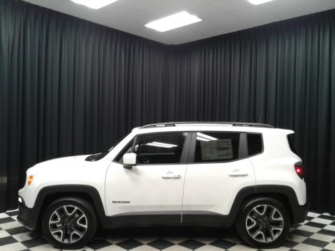Alpine White Jeep Renegade Latitude.  Click to enlarge.