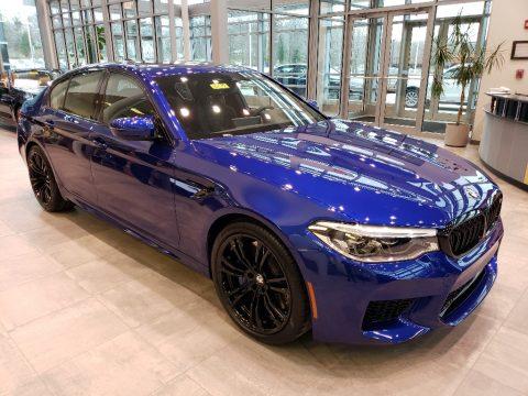 Marina Bay Blue metallic BMW M5 Sedan.  Click to enlarge.