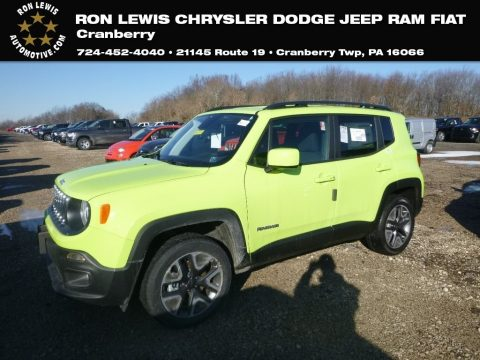 Hypergreen Jeep Renegade Latitude 4x4.  Click to enlarge.