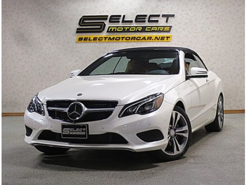 designo Diamond White Metallic Mercedes-Benz E 400 Cabriolet.  Click to enlarge.