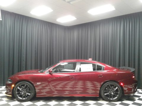 Octane Red Pearl Dodge Charger R/T Scat Pack.  Click to enlarge.