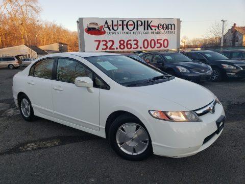 Taffeta White Honda Civic Hybrid Sedan.  Click to enlarge.
