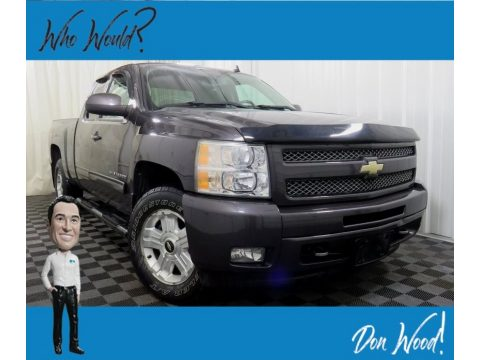 Taupe Gray Metallic Chevrolet Silverado 1500 LT Extended Cab 4x4.  Click to enlarge.