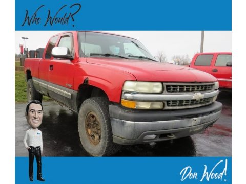 Victory Red Chevrolet Silverado 1500 LS Extended Cab 4x4.  Click to enlarge.