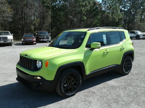 Hypergreen Jeep Renegade Altitude.  Click to enlarge.