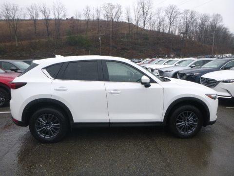 Snowflake White Pearl Mica Mazda CX-5 Touring AWD.  Click to enlarge.