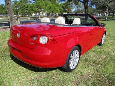 Salsa Red Volkswagen Eos Komfort.  Click to enlarge.