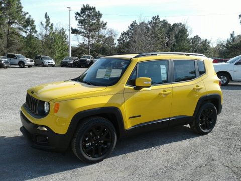 Solar Yellow Jeep Renegade Altitude.  Click to enlarge.