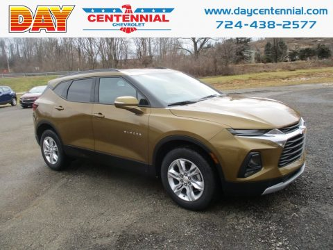 Sunlit Bronze Metallic Chevrolet Blazer 3.6L Cloth AWD.  Click to enlarge.