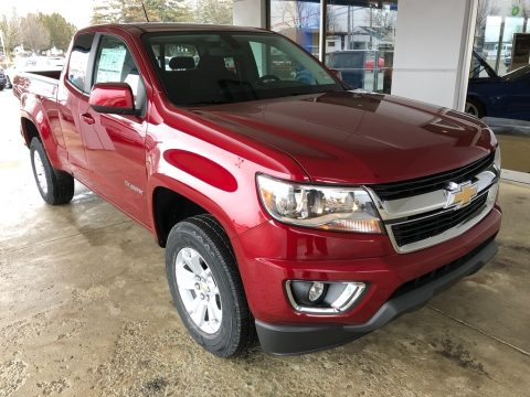 Cajun Red Tintcoat Chevrolet Colorado LT Extended Cab.  Click to enlarge.