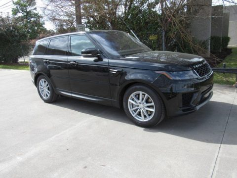 Santorini Black Metallic Land Rover Range Rover Sport SE.  Click to enlarge.