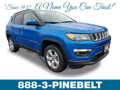 Laser Blue Pearl Jeep Compass Latitude 4x4.  Click to enlarge.
