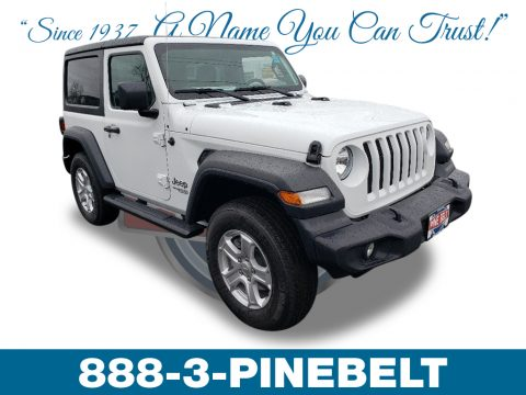 Bright White Jeep Wrangler Sport 4x4.  Click to enlarge.