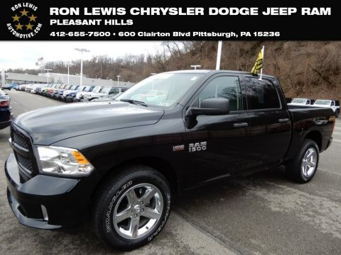 Brilliant Black Crystal Pearl Ram 1500 Express Crew Cab 4x4.  Click to enlarge.