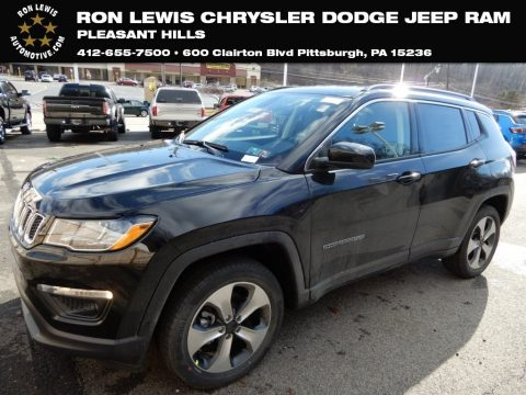 Diamond Black Crystal Pearl Jeep Compass Latitude 4x4.  Click to enlarge.