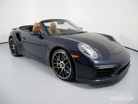 Night Blue Metallic Porsche 911 Turbo S Cabriolet.  Click to enlarge.