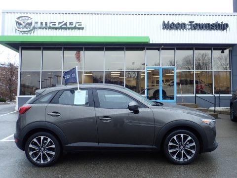 Machine Gray Metallic Mazda CX-3 Touring AWD.  Click to enlarge.