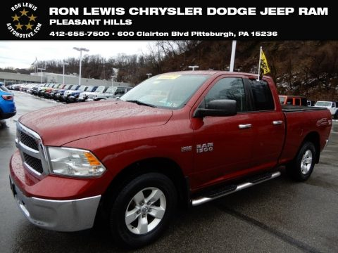 Deep Cherry Red Crystal Pearl Ram 1500 SLT Quad Cab 4x4.  Click to enlarge.