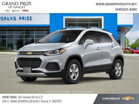 Silver Ice Metallic Chevrolet Trax LT AWD.  Click to enlarge.