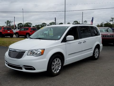 Bright White Chrysler Town & Country Touring.  Click to enlarge.
