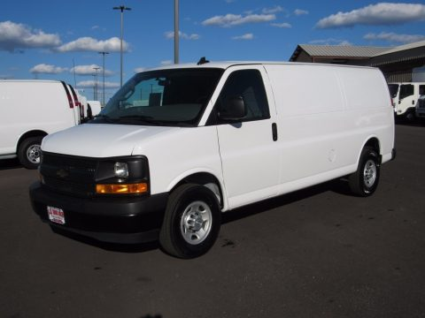 Summit White Chevrolet Express 2500 Cargo Extended WT.  Click to enlarge.