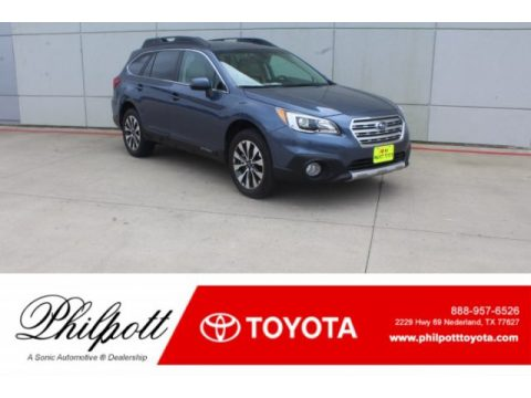 Twilight Blue Metallic Subaru Outback 2.5i Limited.  Click to enlarge.