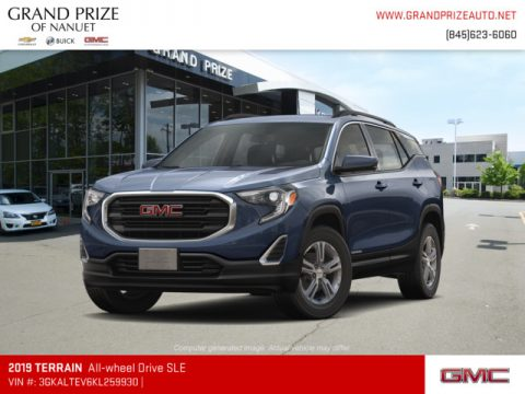 Blue Steel Metallic GMC Terrain SLE AWD.  Click to enlarge.