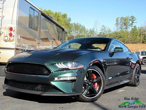 Dark Highland Green Ford Mustang Bullitt.  Click to enlarge.