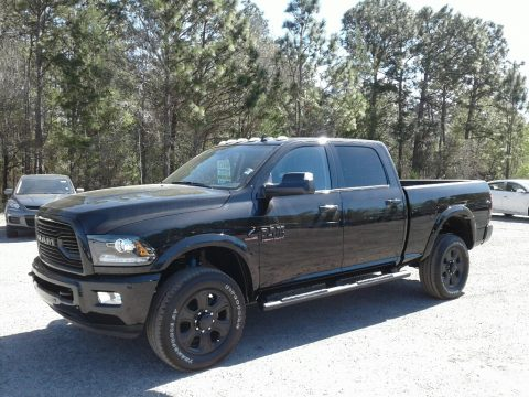 Brilliant Black Crystal Pearl Ram 2500 Laramie Crew Cab 4x4.  Click to enlarge.