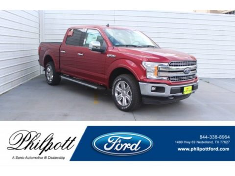 Ruby Red Ford F150 Lariat Sport SuperCrew 4x4.  Click to enlarge.
