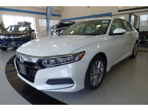 Platinum White Pearl Honda Accord LX Sedan.  Click to enlarge.